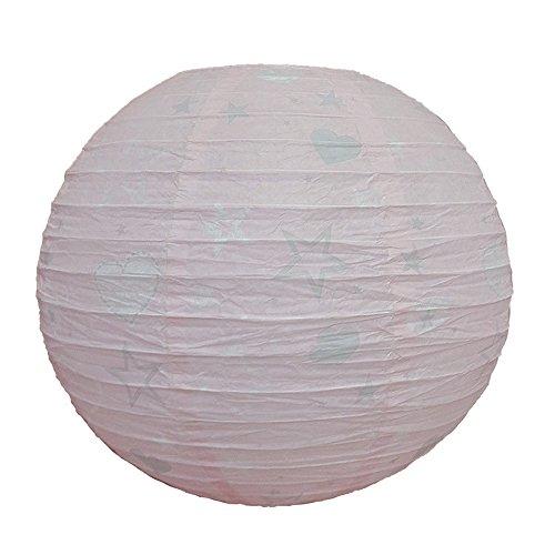 marque Atmosphera, créateur d'intérieur Lanterne Boule étoile Rose Ø35cm
