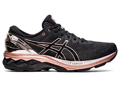 ASICS Women's Gel-Kayano 27 Running Shoes, 8M, Black/Rose Gold
