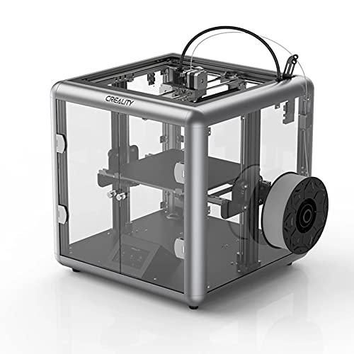 ASPZQ Sermoon D1 Fully Enclosed FDM 3D Printer, All-Metal Extrusion 3D Printer Transparent Design Industrial Grade Printing (Size : 110-120V)