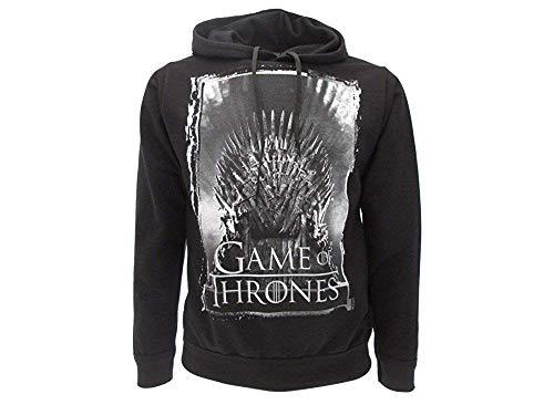 Felpa Games of Thrones Originale Nera Trono di spade con tasche Prodotto Ufficiale (XL adulto)