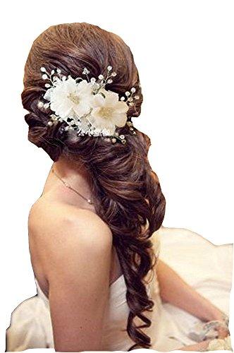 Unbekannt Braut Hochzeit Perlen Haarschmuck Haarblume Blüte Blume Schmuck Haargesteck