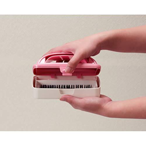 【ハンディエコクリーナー】カーペットクリーナーぱくぱくくんピンクN85