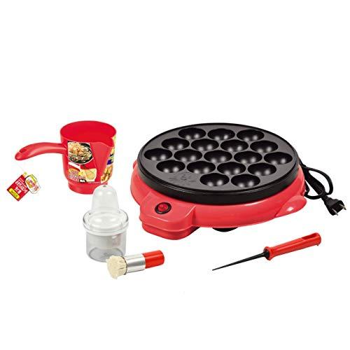 【セット買い】電気式たこ焼き器18穴 D-0631 + おやつDEっSE かくはんできる粉つぎ D-0405 + たこ焼き針 D-0403 + 油引きセット D-0412