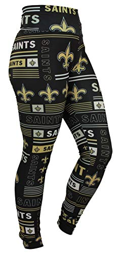 Zubaz NFL New Orleans Saints Women's Team Column Legging Size Medium>