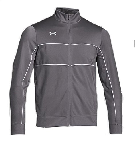 Under Armour Men's Rival Knit Warm-Up Jacket (X-Large, Graphite/White)