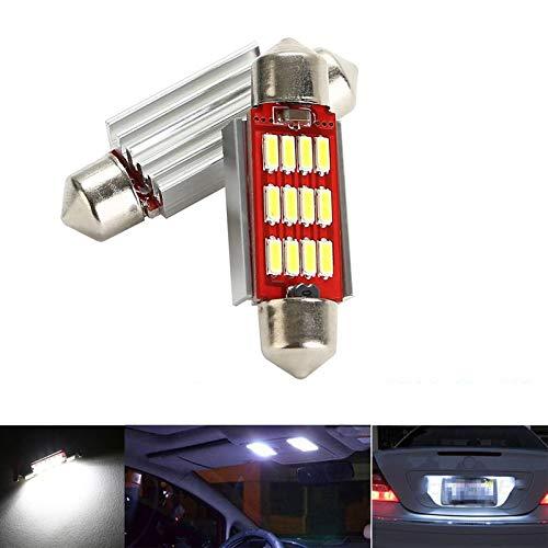 CICMOD 2 x 800 Lumen CANBUS Ampoules Intérieur 12 * 4014 SMD LED Eclairage Intérieur 36mm Xenon Blanc 6000K