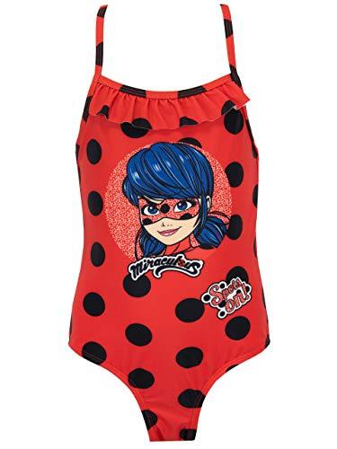 Miraculous Bañador Niñas Ladybug Rojo 10-11 Años