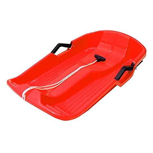YFY Trineo de plástico para niños - Trineo con Cuerda de Pull y 2 Asas - Esquiadores de Trineo Grande para Adultos y niños Skis de Invierno al Aire Libre Cuesta Abajo 25.59x15.75x5.12 Pulgadas