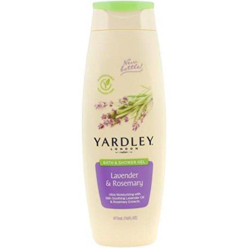 Yardley London Lavender & Rosemary Bath & Shower Gel, 16 ounce