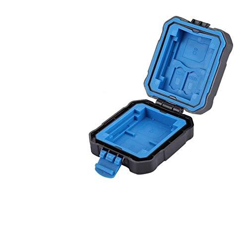 KSPD Tarjeta de Memoria Tarjetas de Memoria Caja Impermeable Micro-SD CF TF Tarjeta Titular Stocker Caja de Almacenamiento (9 Ranuras) Accesorios de Viaje