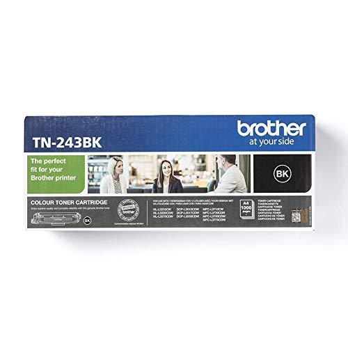 Brother TN-243BK Original Tonerkassette (für Brother DCP-L3510CDW, DCP-L3550CDW, HL-L3210CW, HL-L3230CDW, HL-L3270CDW, MFC-L3710CW, MFC-L3730CDN, MFC-L3750CDW und MFC-L3770CDW) schwarz