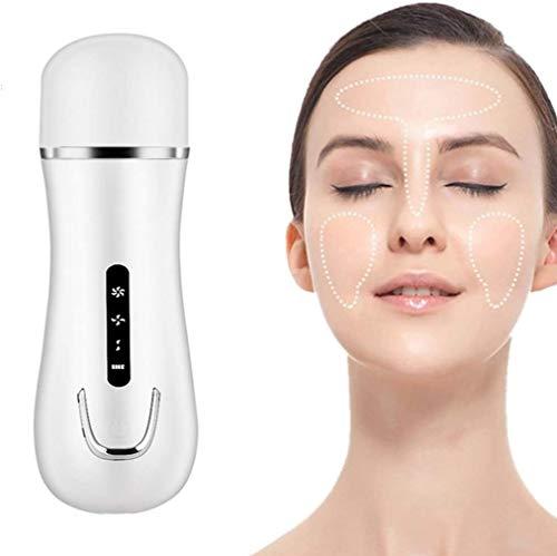 XHDMJ Épurateur De Peau, Nettoyant Facial À Ultrasons Masseur Facial Acné Remover Multifonction Pore Cleaning Beauty Instrument, Blanc