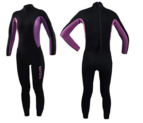 Kounga Dw 3.2 Traje para Surf y Buceo, Mujer, Negro/Violeta, M