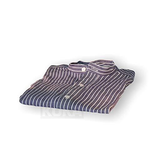 Josten Grubenhemd Zechenhemd Pütthemd Bergbauhemd Arbeitshemd blauweiß versch. Größen (50)