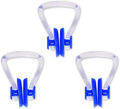 DSstyles 3 pièces en PVC Silicone Natation nez agrafe nez prise de courant Nappe pour enfants adultes