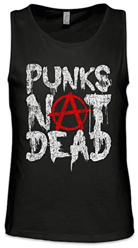 Urban Backwoods Punks Not Dead II Hombre Camiseta Sin Mangas Men Tank Top Negro Talla L