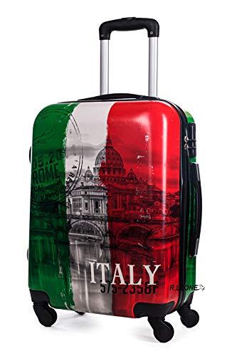 R.Leone Valigia bagaglio a mano 4 ruote in Policarbonato (Italia, S Bagaglio a mano 55cm)
