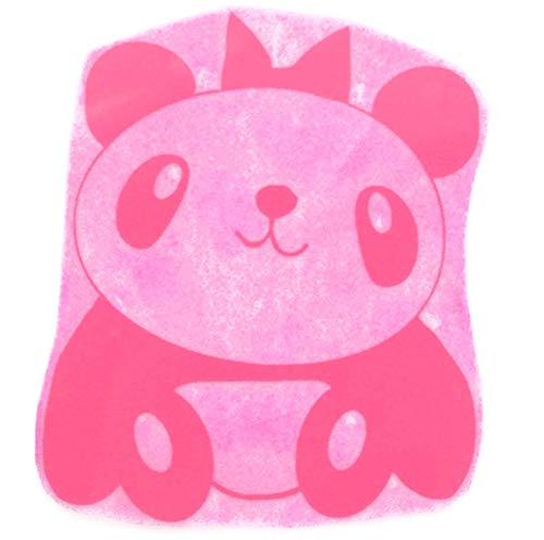 Bügelbild, Motiv: Panda, Version: A, Größe: 10x11,5cm, Farbe: magenta, heißsiegelfähige Flockfolie auf Basis von Viskosefasern