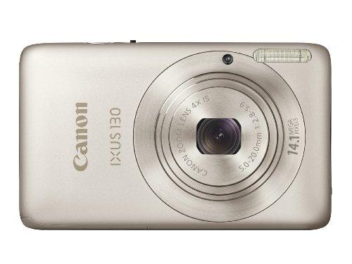 Canon IXUS 130 Digitalkamera (14 MP, 4-fach opt. Zoom, 6,9cm (2,7 Zoll) Display, HD Video, bildstabilisiert) silber