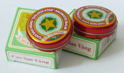 10 Grams (Net Weight), Golden Star Balm, Cao Sao Vang Vietnam, Aromatic Balsam by Golden Star Balm