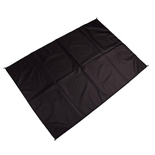 Preisvergleich Produktbild LaDicha 145 X 150Cm Wasserdicht Strandmatte Portable Camping Picknick Matte Baby Klettern Bodenmatte Schlafmatte - Schwarz