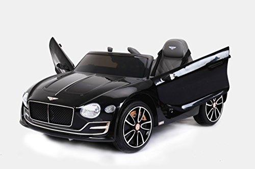 Bentley EXP12 Elektrisches Auto für Kinder, Schwarz, Original lizenziert, batteriebetrieben, Öffnungstüren, Ledersitz, 2x Motor, 12 V Batterie, 2.4 Ghz Fernbedienung, Soft EVA Räder, Glatter Start