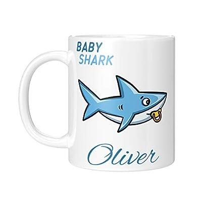 Personalized Shark Familiy Coffee Mugs - Baby Shark Doo Doo - 11 oz, 15oz - Christmas Gifts