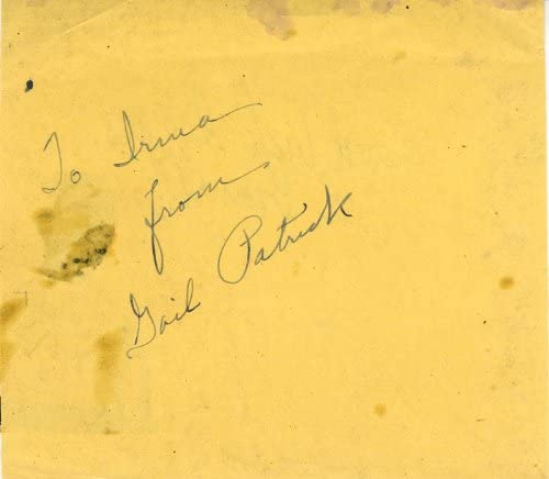Bargain Gail Patrick Low price - Inscribed Signature Cromwell Dick by co-signed