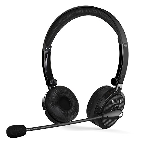 CISNO Over The Ear Wireless Bluetooth Foldable Headset, Noise Cancelling Crystal Clear Headphones with Mic and Volume Control for Trucker Driver, Compatible with iPhone