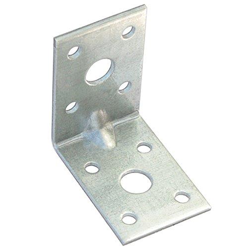 50 Winkel Winkelverbinder Lochplattenwinkel mit Sicke 50 x 50 x 35 x 2,0 mm