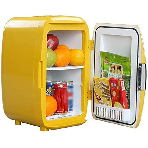 XIXIDIAN Mini refrigerador eléctrico refrigerador y Calentador 16 Libros de refrigerador Compacto para Uso doméstico y de automóviles