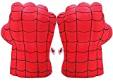 Superhero Boxing Glove for Kids, Soft Plush Gloves Training Boxing Fists, Costume Cosplay for Boys Girls (Red)