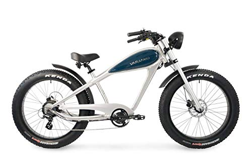 Varaneo E-Bike Café Racer Retro-Look 250W 25 km/h 626Wh Pedelec 7 Gang hydraulische Scheibenbremse Kenda Bereifung (Alu Ozeanblau)