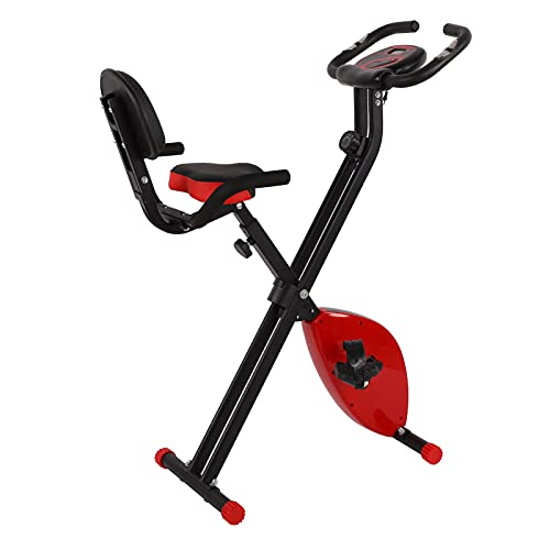 TANKE Bicicleta estática Plegable Pantalla LCD Bicicletas magnéticas de Entrenamiento físico con cojín Trasero 664.9oz