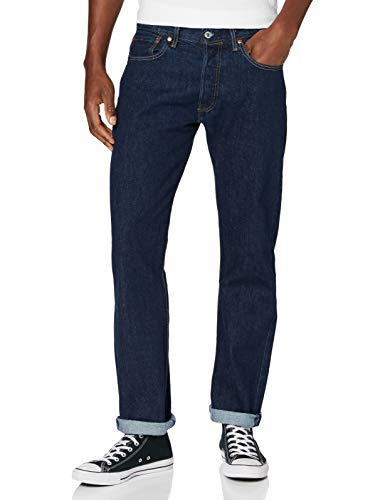 Levi's Herren 501 Levi's Original Fit Straight Jeans, Dark Indigo-Flat Finish 226, 28W / 32L