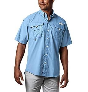 Columbia Men's PFG Bahama II Short Sleeve Shirt, Sail, Large