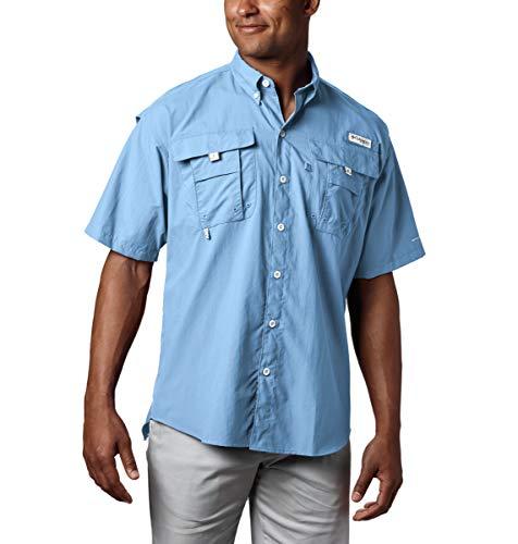 Columbia Men's PFG Bahama II Short Sleeve Shirt, Sail, X-Large
