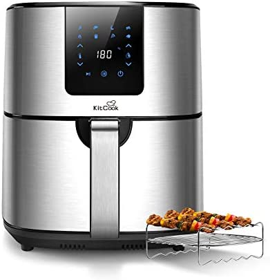 KitCook Large Air Fryer XL with Stainless Steel Basket 6 8QT Air Fryers Oven with LED Screen product image