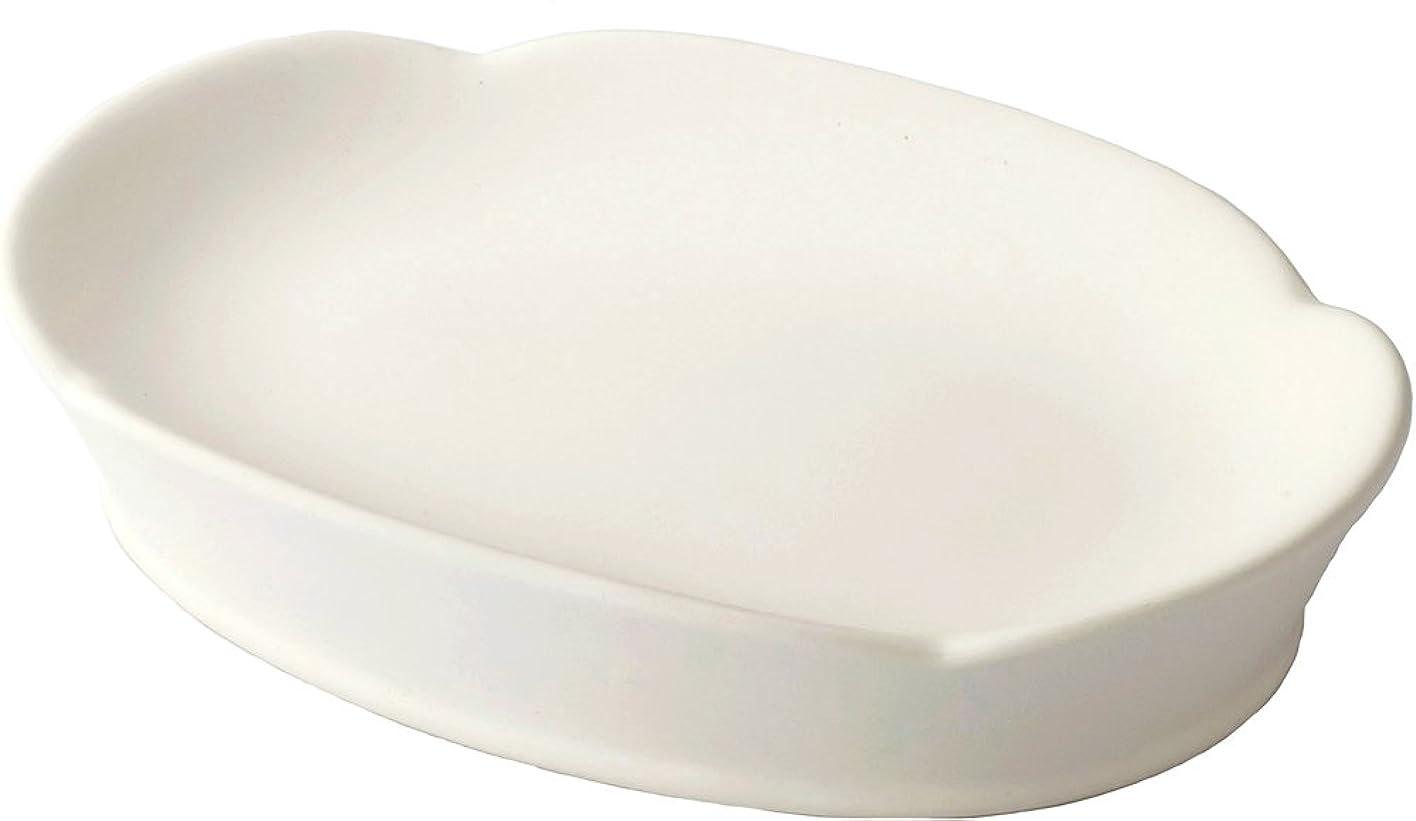 歪めるリッチ傑作見谷陶器 水吸収ソープディッシュ ホワイト