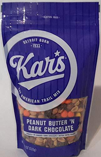 KAR'S GLUTEN FREE PEANUT BUTTER 'N DARK CHOCOLATE, NET WT 18 OZ (510g)