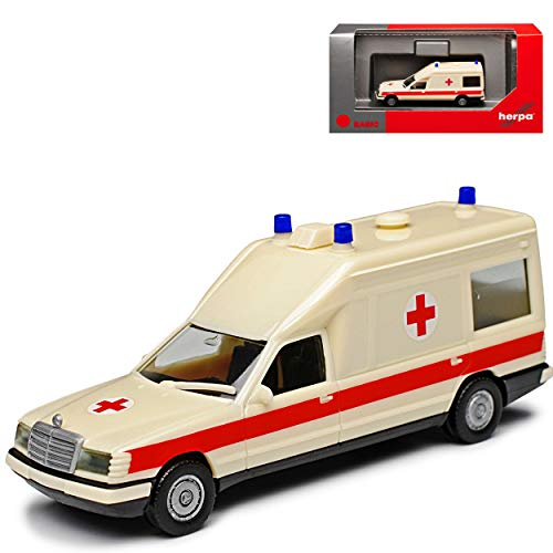 Mercedes-Benz Miesen E-Klasse W124 KTW Transporter Krankenwagen Rettungswagen 1977-1995 H0 1/87 Herpa Modell Auto mit individiuellem Wunschkennzeichen