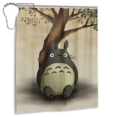 NR Totoro Duschvorhang Liner Wasserdichtes Polyestergewebe Badezimmer Duschvorhang Duschvorhänge 9 Lron Hooks