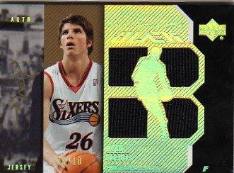 2006-07 UD Black Jerseys Autographs 10 #KK Kyle Korver Autograph Jersey Card Serial #'d/10