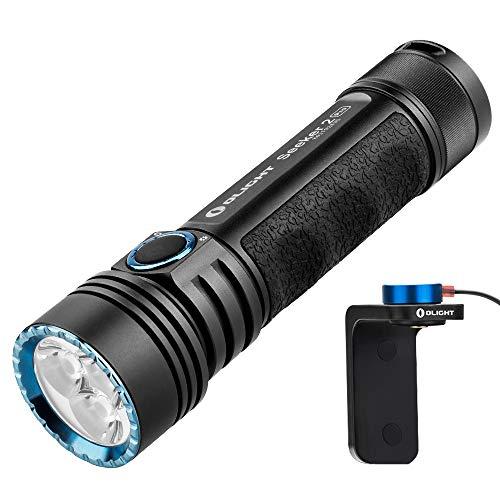 Olight Seeker 2 Pro - Linterna de bolsillo (capacidad de 3200 lúmenes, 250 m, 5 años), color negro