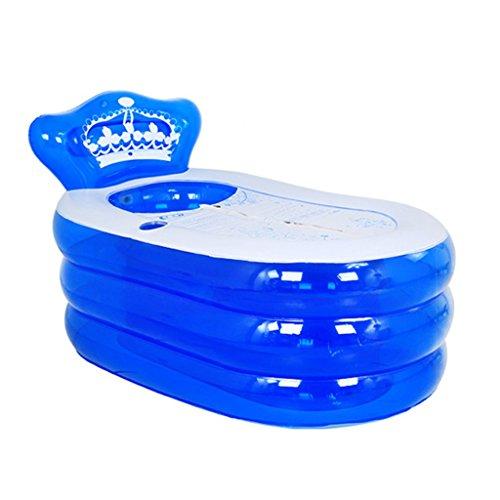 Baignoire pliante gonflable, bain double multi-taille bain bleu baignoire bleue d'isolation plus épaisse piscine adulte enfants anti-glissante piscine, bain pliable de siège de douche d'air de voyage bains grande taille