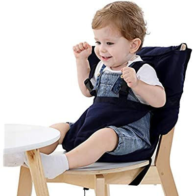 Vine Ajustable Asiento Portatil Trona de Viaje para Bebé, tronas portatil para bebes,color azul oscuro