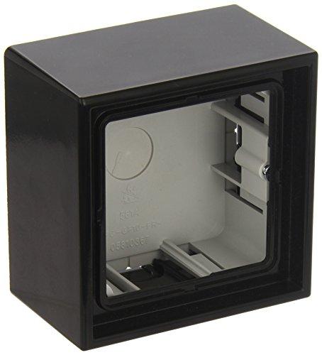 JUNG LS581ASW Caja de Superficie, Simple, 81 x 81 x 47mm, Negro, Duroplástico, Brillante