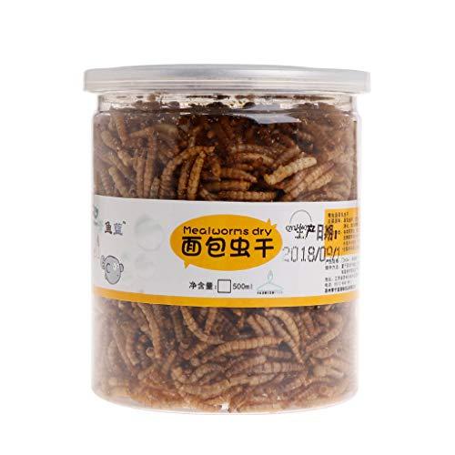 JAGETRADE Nourriture pour Poissons d'aquarium, Aliment de santé pour Poissons tropicaux à Haute Valeur protéique pour Tortues, 15 g / 500