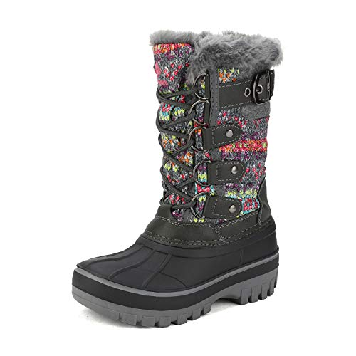 DREAM PAIRS Little Kid Forester Black Ankle Winter Snow Boots Size 3 M US Little Kid