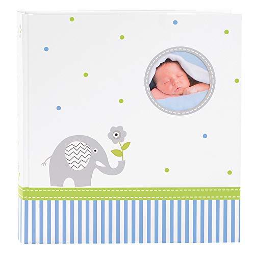 goldbuch Babyalbum mit Fensterausschnitt, Babyworld Wal, 30 x 31 cm, 60 weiße Blankoseiten mit 4 illustrierten Seiten und Pergamin-Trennblättern, Laminierter Kunstdruck, Weiß/grün, 15329